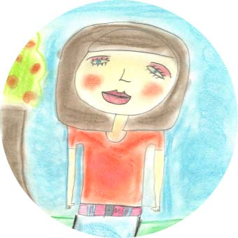 Child's drawing of a girl